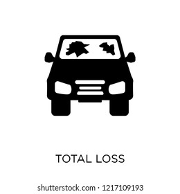 total loss icon. total loss symbol design from Insurance collection.