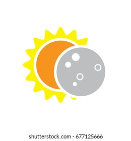 Total Solar Eclipse Icon for August 8, 2017