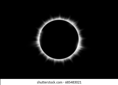 Total solar eclipse vector illustration