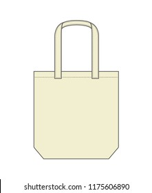 Tote bag / shopping bag / eco bag template illustration (natural color)