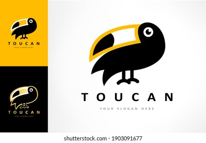 Toucan logo vector. Bird design.