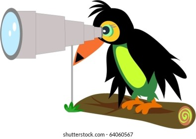 Toucan with Telescope