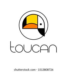 TOUCAN. Tropical bird. Toucan logo icon symbol template. Vector illustration.