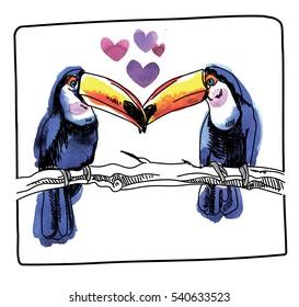 I Love Heart Toucans T-Shirt