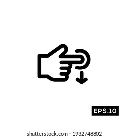Touch Gestures line Icon. Touch Gestures icon Vector Illustration Template For Web and Mobile