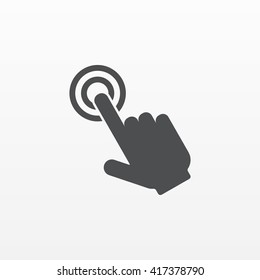 Touch hand icon. Push button vector isolated. Modern flat pictogram, business,  marketing, internet concept. Trendy Simple symbol for web. Logo illustration.