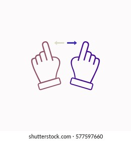 Touch  icon Vector design. Colored illustration.