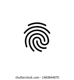 Touch ID icon vector isolated on background. Trendy sweet symbol. Pixel perfect. illustration EPS 10. - Vector