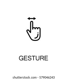 Touch screen gestures icon. Single high quality outline symbol for web design or mobile app. Thin line sign for design logo. Black outline pictogram on white background