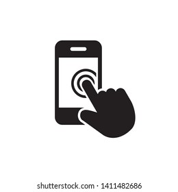Touch screen icon design trendy