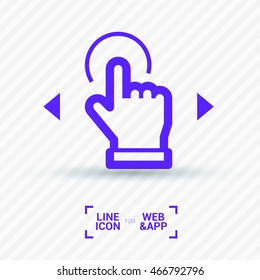 Touch screen icon. Isolated minimal single flat icon. Line vector icon for websites and mobile minimalistic flat design.