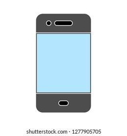 touch screen mobile icon - touch screen mobile isolated, smartphone illustration - Vector mobile
