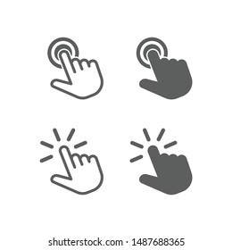 Touch vector icon for graphic and website design
