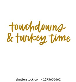 Touchdowns and turkey time