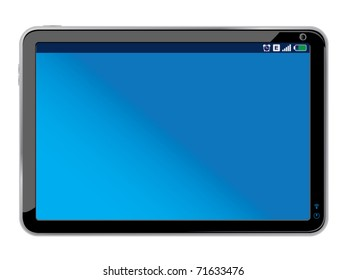 touchpad or tablet pc isolated on white - Original design