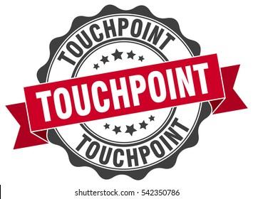 touchpoint. stamp. sticker. seal. round grunge vintage ribbon touchpoint sign