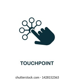 Touchpoint vector icon illustration. Creative sign from icons collection. Filled flat Touchpoint icon for computer and mobile. Symbol, logo vector graphics.