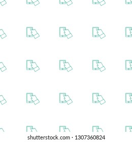 touchscreen icon pattern seamless white background. Editable line touchscreen icon. touchscreen icon pattern for web and mobile.