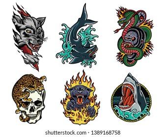 Tough Animals Classic Tattoo Pack