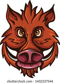 A tough boar animal character or t shirt design