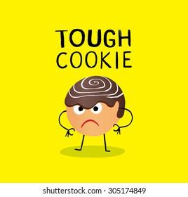 Tough cookie illustration. Eps.