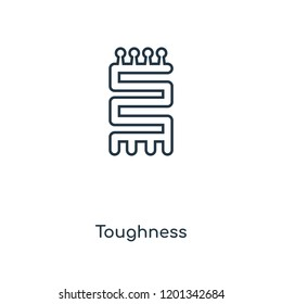 Toughness concept line icon. Linear Toughness concept outline symbol design. This simple element illustration can be used for web and mobile UI/UX.