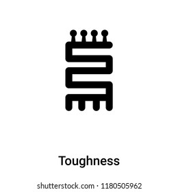 Toughness icon vector isolated on white background, logo concept of Toughness sign on transparent background, filled black symbol