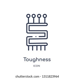 toughness icon from zodiac outline collection. Thin line toughness icon isolated on white background.