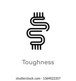 toughness vector line icon. Simple element illustration. toughness outline icon from zodiac concept. Can be used for web and mobile