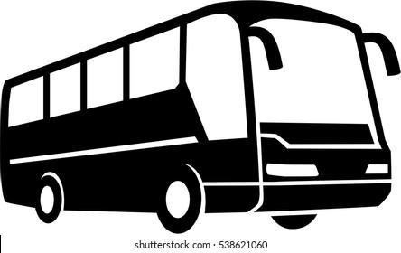 Tour Bus silhouette