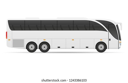 tour city bus stock vector illustration isolated on white background