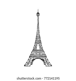 tour Eiffel romantic vector illustration