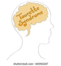 Tourette syndrome vector background