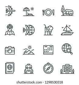 Tourism And Travel Icon Set