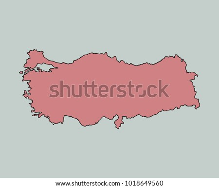 Tourism Vector Isolated Turkey Map Stock Vector (Royalty ...
