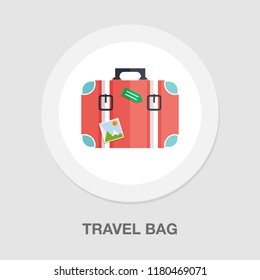 tourist bag - travel icon - luggage icon - holiday vacation bag