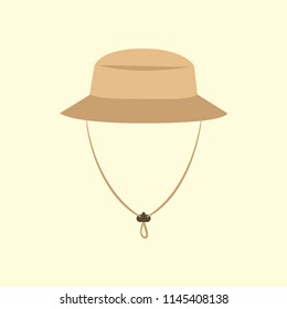 Tourist hat. Adventure. Vector illustration. EPS 10.