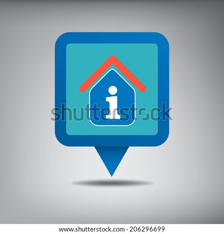 Tourist Information Centre On Blue Location Stock Vector Royalty