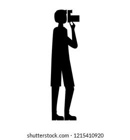 tourist man photograpy camera