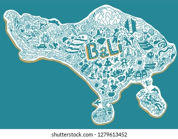Tourist map of Bali