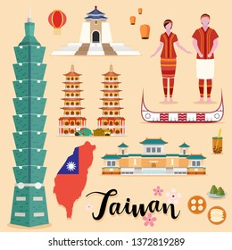 Tourist Taiwan Travel set collection