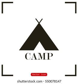 Tourist tent vector illustration. Camp