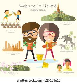 tourist travel to northern Thailand