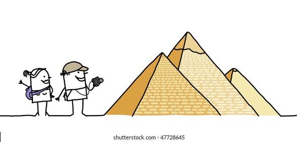 tourists & Pyramids