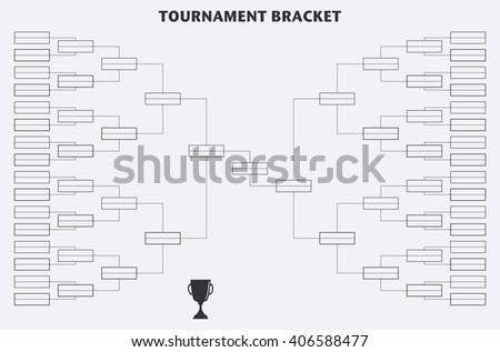 Tournament Bracket Championship Vector Sport Background Stock Vector