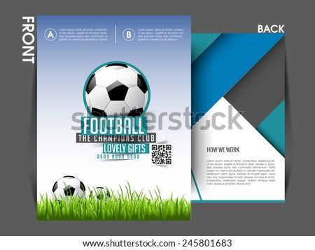 Tournament Flyer Template Eps 10 Brochure Magazine Stock Vector