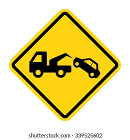 Tow Away No Parking Sign. Vector illustration