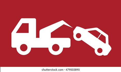 Tow Away No Parking Sign . Vector illustration