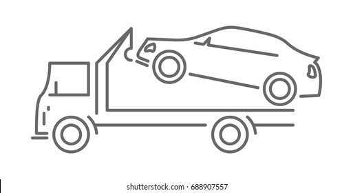 tow car outline icon