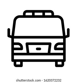 Tow Car Truck Icon Vector. Outline Tow Car Truck Sign. Isolated Contour Symbol Illustration